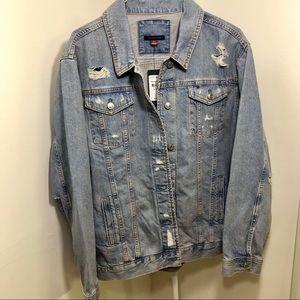 BRAND NEW Tommy Hilfiger Distressed Denim Jacket